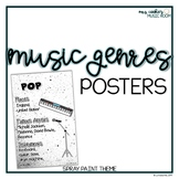 Music Styles Posters: Spray Paint Theme