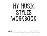 Music Styles Workbook