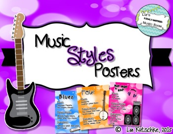 Music Styles/Genres Posters (Both 8.5x11 and 11x17)