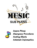 Music Sub Binder Cover Page