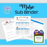 Music Sub Binder CUSTOMIZABLE