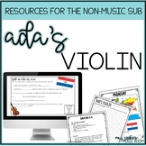 Music Sub Plan: Ada's Violin