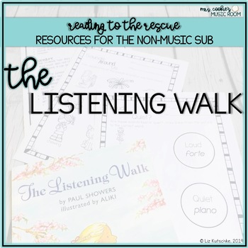 Music Sub Plan for  The Listening Walk