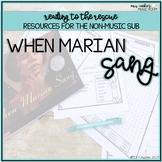 Music Sub Plan: When Marian Sang