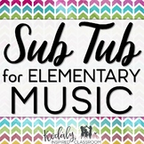 Elementary Music Sub Plans Bundle with Games