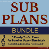 Music Sub Plans Bundle