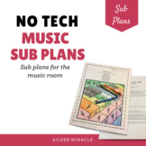 Music Sub Plans {No Tech Lessons for the Elementary Music Room}