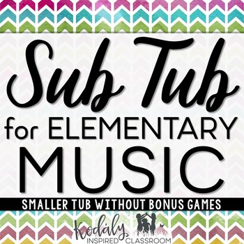 Music Sub Plans {Without Games}