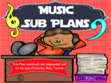 Music Sub Plans- Worksheets and activities for the busy mu
