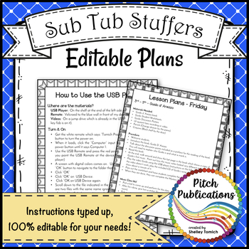 Music Sub Tub Stuffers: 3-5 Music Substitute Plan - Guido d'Arezzo