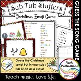 Music Sub Tub Stuffers: Guess the Christmas Song Emoji Game
