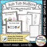Music Sub Tub Stuffers: Guess the Nursery Rhyme / Folk Song Emoji Game
