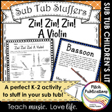 Music Sub Tub Stuffers: K-2 Substitute Plan - Zin! Zin! Zi