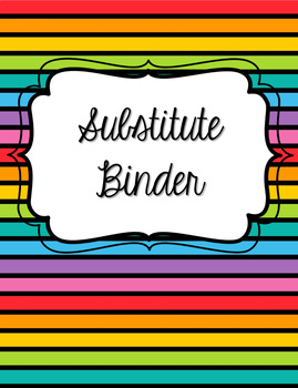 Music Substitute Binder Divider Pages