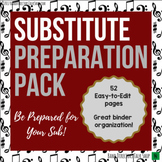 Music Substitute Preparation Pack- for Band Directors or Music Teachers