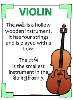 Music Substitute Plans (The String Family)