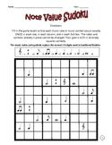 Music Sudoku With Basic Music Symbols #1