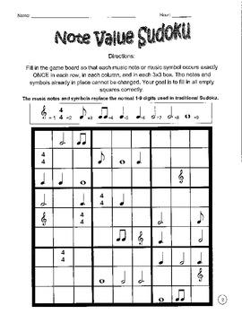 Music Sudoku With Basic Music Symbols #2