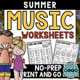 Summer Mega Pack of Music Worksheets- 82 Pages!