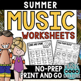 Summer Mega Pack of Music Worksheets- 82 Pages!