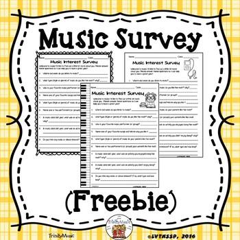 Music Survey (FREEBIE)