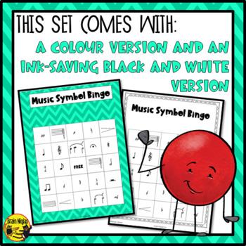 Music Symbols Bingo Game