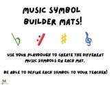Music Symbol Builder Play Dough Mats