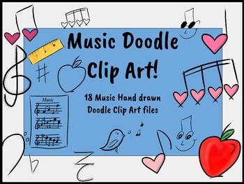 Music Symbol Doodle Clip Art
