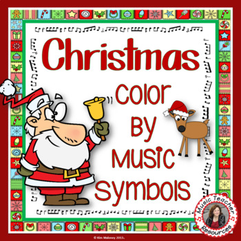 Christmas Color by Music Note: 24 Christmas Music Coloring Pages