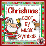 Christmas Music Activities l Color by Music Symbol