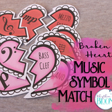 Music Symbol Match | Valentine's Hearts