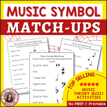 Music Symbol Match Up | Music Notes Rests and Dynamics