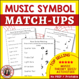 Music Games: Music Theory Puzzles: Music Match-Up Notes Rests and Dynamics
