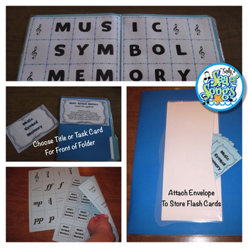 Music Symbol Memory Mat - File Folder Center Vocabulary Activity