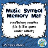 Music Symbol Memory Mat - File Folder Center Vocabulary Activity