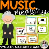 Music Symbol Memory Match with Bach, Mozart, & Beethoven