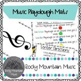 Music Symbol Playdough Mats