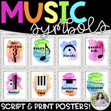 Music Symbols & Dynamics Posters {51 8.5×11 Watercolor Signs: Music Decor}