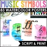 Music Symbols & Dynamics Posters {Watercolor Music Decor}