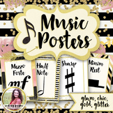 Music Symbol Posters {47 8.5×11 Chic & Glam Signs}