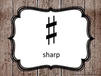 Music Symbol Posters - Farmhouse Theme