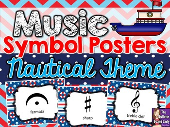 Music Symbol Posters – Nautical Theme