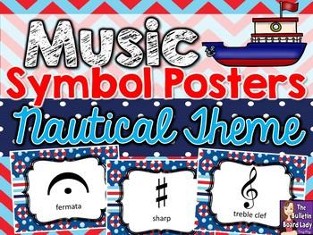 Music Symbol Posters – Nautical Theme