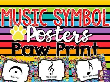 Music Symbol Posters - Paw Print Theme