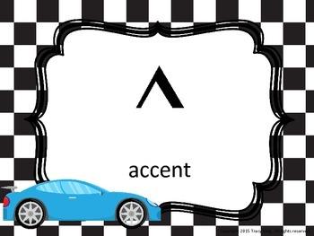 Music Symbol Posters - Racing Theme