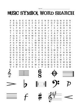 Music Symbol Word Search