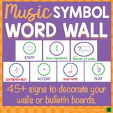Music Word Wall:  Symbols  Music Bulletin Board