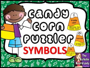Music Symbols Candy Corn Puzzles