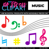 Music Symbols Clip Art (Digital Use Ok!)