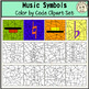 Music Symbols Color by Code Clipart Set